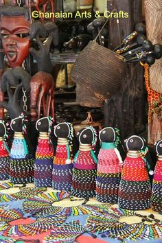 Craft stalls around the country also sell a wide selection of sculptures and masks made locally. Ghana Culture, African Culture, Craft Stalls, Mask Making, Straw Bag, Arts And Crafts, Tote Bag, Lifestyle, Masks