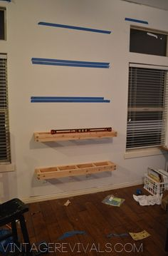 pretty sure i'm pinning this for the second time.... but new pic! how to make floating shelves