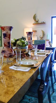 Fill in your Fall table with stunning glassware from HomeGoods! #sponsored #happybydesign