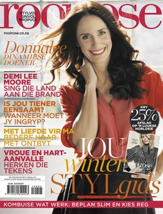 Agter die skerms met Donnalee Roberts Beautiful Cover, May 1, Cheryl, Beautiful People, Singing, Meet, Digital, Magazine Covers, Rose