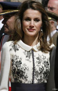 """<p class=""""p1"""">La Princesa de Asturias muy elegante en el Palacio de la Zarzuela en Madrid, el 3 de mayo de 2012.</p>"""