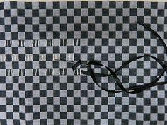 Trançado de Fita em Tecido Xadrez
