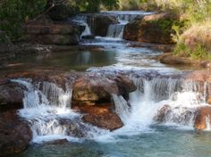 Twin falls in Cape York Australia. Queensland Australia, Australia Travel, Beautiful Places To Visit, Places To See, York Peninsula, Outdoor Pictures, Twin Falls, Rock Pools, Walkabout