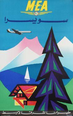 """AURIAC Jacques M.E.A.""""Middle East Airlines"""". SWITZERLAND .Vers 1960 Etablissements"""