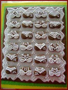 adventni kalendar Russian Recipes, Cookie Cutters, Cake Decorating, Polish, Cookies, Creative, Ideas, Sweet Recipes, Crack Crackers