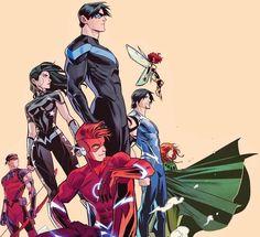Dc Comics Superheroes, Dc Comics Art, Marvel E Dc, Marvel Comics, Nightwing Wallpaper, Comic Art, Comic Books, Robin Dc, Univers Dc