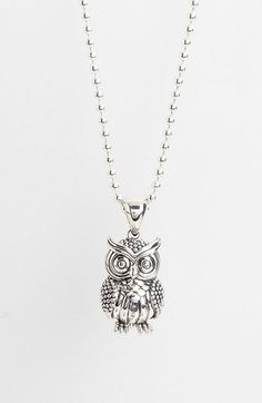 im not sure when owls bacame so popular but i LOVE it!!! Lagos 'Rare Wonders - Owl' Long Talisman Necklace | Nordstrom