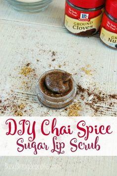 DIY Chai Spice Sugar Lip Scrub - http://busybeingjennifer.com