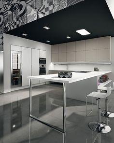 Italian kitchens : modern by woodville,modern Kitchen Cabinets, Desk, Shelves, Interior Design, Inspiration, Furniture, Design Ideas, Inspired, Home Decor