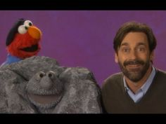 Elmo explains what a sculpture is to actor Jon Hamm (Don Draper on Mad Men) on Sesame Street #Art #JonHamm