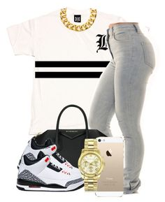 """""""8:22:14"""" by codeineweeknds ❤ liked on Polyvore featuring Yves Saint Laurent, Givenchy and Michael Kors"""