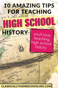 10 simple and fun tips to teach high school history at home. High School Classroom, History Classroom, Homeschool High School, Middle School Teachers, History Education, History Teachers, Teaching History, Teaching Tips, Teaching Biology