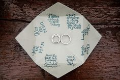 "Custom Cootie Catcher for Sara & Kyle's wedding....phrases included ""Kiss The Bride / Groom"" ... ""Play a game of rock/paper/scissors"" and ""Introduce yourself to someone you don't know""...    {photo credit:  emilieinc.com}"