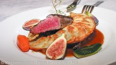 Grilled Venison Tenderloin with Figs and Chartreuse