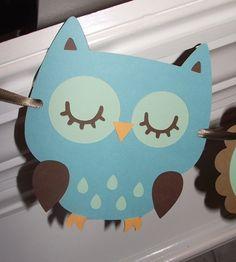 décoration chambre bébé en carton bleu pour la chambre d'enfant