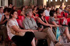 Il dialogo sugli sconfinamenti culturali tra Fabrizio Barozzi e Giovanni Amadasi del 2 luglio presso l'ex Borsa Valori di Torino. Foto di Jana Sebestova #AIC2015 #sconfinamenti