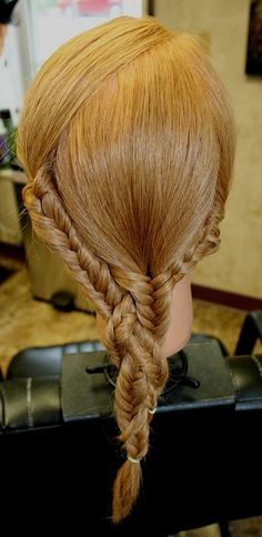 Braided fishtail braids