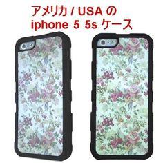 アメリカ の フラワー プリント flower iphone 5 5s case black オシャレ 花柄 ブラック アイフォン ファイブ エス ケース 携帯カバー 海外 ブランド