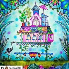 Que lindo by @tpetina999 #selvamágica…  Davlin Publishing #adultcoloring