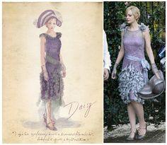 """Daisy Buchanan (Carey Mulligan) en """"El gran Gatsby"""" (2013). Diseño de vestuario: Catherine Martin"""