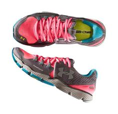 Under Armor Charge RC shoes, $120    So cute!! And would match alllll my running gear!!