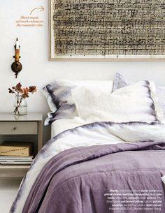 chevrons & éclairs: guest post : jacquelyn of lark & linen design inspiration, ombre sheets