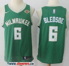 168cb8a79ede Men s Nike Milwaukee Bucks  6 Eric Bledsoe Green NBA Swingman Icon Edition  Jersey Cheap Nba