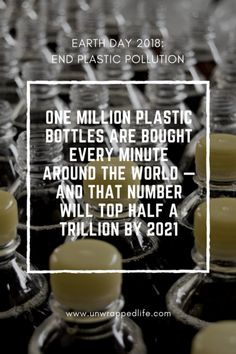 earth day scary plastic statistic: ONE MILLION plastic bottles are bought EVERY MINUTE around the world — and that number will top half a TRILLION by Less than half of those bottles end up getting recycled. Pollution Information, Travel Size Shampoo, Recycling Information, Shampoo Bottles, Solid Shampoo, Plastic Pollution, Free Quotes, Earth Day, One In A Million