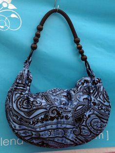 Indigo Paisley Hobo by MixedBtq on Etsy, $62.00