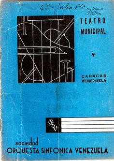 Programa de mano del concierto en el que se estrenó la Cantata Criolla, 25 de Julio de 1954. (1)