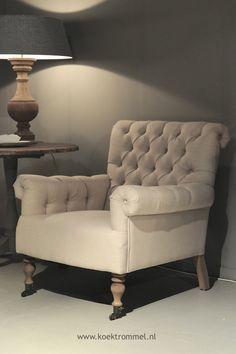 comfortabele fauteuil met capitons