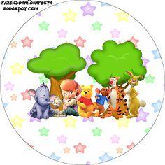 Meus Amigos Tigrão e Pooh - Kit Completo com molduras para convites, rótulos para guloseimas, lembrancinhas e imagens!