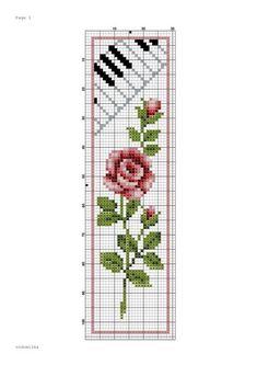 Vervaco Yellow Rose & Treble C Cross Stitch Music, Cross Stitch Books, Cross Stitch Bookmarks, Cross Stitch Rose, Cross Stitch Alphabet, Cross Stitch Flowers, Cross Stitch Charts, Cross Stitch Designs, Cross Stitch Patterns