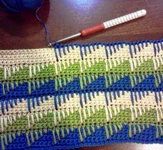 Lindo este ponto de crochet vi no blog   The Spike Stitch