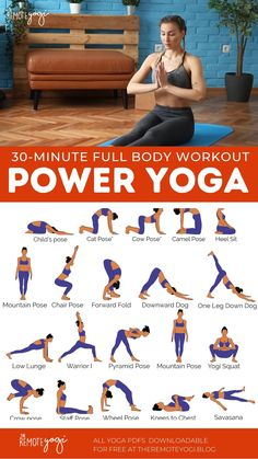 Full Body Yoga Workout – Free Printable PDF
