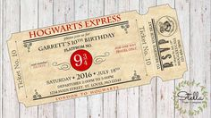 Harry Potter Hogwarts Express Ticket Party by stellapapercompany
