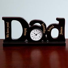 Need a unique gift? Send Dad Clock and other personalized gifts at Personal Creations. Great Father's Day Gifts, Cool Gifts, Gifts For Dad, Happy Daddy Day, Happy Fathers Day, Mother And Father, You Are The Father, Personalized Fathers Day Gifts, Dad Day