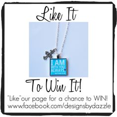 """Want this Necklace?! All you have to do is """"Like"""" our Facebook page and automatically you will be entered into our drawing! Drawing takes place on Feb 14th!"""