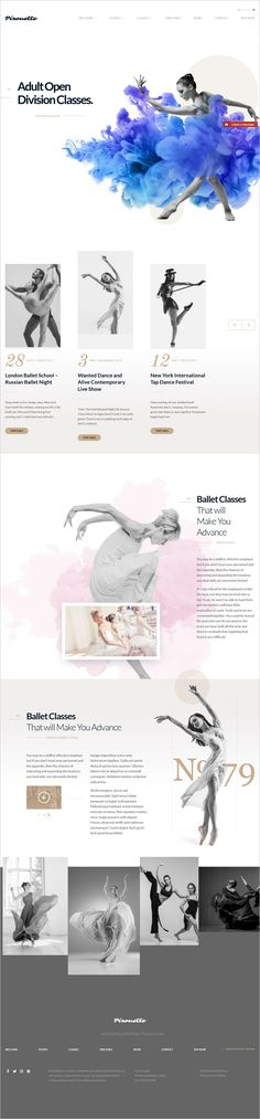 Dance Academy is a premium #WordPress theme #webdesign for #dance school, fitness center or yoga studios website with 4 unique homepage layouts download now➩ https://themeforest.net/item/dance-wordpress-theme-dancing-academy/18118447?ref=Datasata