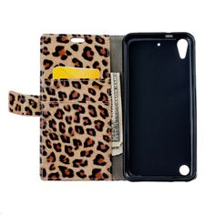 Fashion Leopard Leather Cover Case for HTC Desire 530 Handmade Phone Accessories for Girls Coque for HTC Desire 530 5.00""