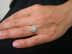 MIRIAM RING antique edwardian inspired sterling cz by FIGistanbul, $55.00