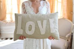 Cute love pillow, lovely bride!