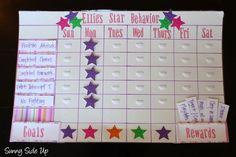 Sunny Side Up: Star Behavior Charts re-born! Behavior Board, Behavior Rewards, Kids Rewards, Preschool Behavior Management, Behavior Plans, Star Behavior Charts, Behaviour Chart, Behavior Sticker Chart, Reward Chart Kids