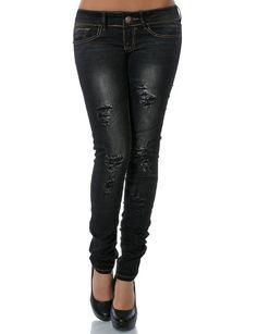 Damen Jeans Skinny (Röhre) No 13628, Farbe:Schwarz;Größe:38 / M