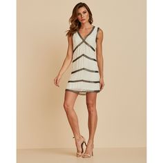 M3021011bran-1 Off White, Ideias Fashion, Mini, Dresses, Unique Clothing, Low Cut Dresses, Neckline, Vestidos, Needlepoint