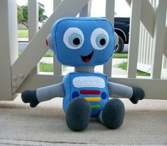 Large Huggable Robot Made to Order by HuggableFriends on Etsy