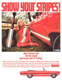 1967 Ford Fairlane GT Convertible - Ride Fairlane and tell the world - Original Ad