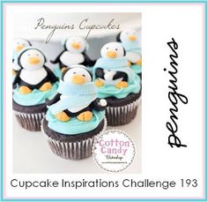 If you are looking for the most adorable penguin themed cupcakes, you should definitely check these out. This is a selection of penguin cupcakes, which were made by different people from all around the globe. Cupcake Cookies, Animal Cupcakes, Winter Cupcakes, Christmas Cupcakes, Pretty Cakes, Cute Cakes, Cupcakes Princesas, Cupcakes Decorados