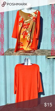 J. Jill Floral Tunic Beautiful, vibrant tunic in excellent, like-new condition. Can fit medium to medium-large sizes. J. Jill Tops Tunics