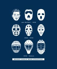 This Hockey Goalie Mask Evolution t-shirt will show you just how tough our forefathers were.  Seriously, gladiators on ice.  Show some love to the people who made your favourite sport what it is today with this professionally screenprinted t-shirt.
